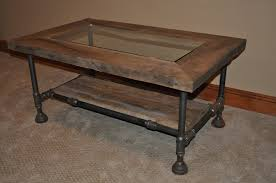 Barnwood Coffee Table Industrial Blackpipe And Barnwood Coffee Table U2013 Boiler Room Designs
