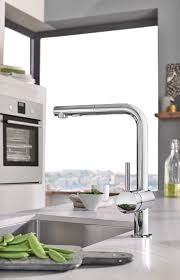 grohe minta kitchen faucet grohe 30300dc0 steel minta pull out spray kitchen faucet