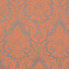 victoria gallic wallpaper metallic silver gray orange