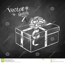 old fashioned cocktail drawing gift box stock vector image 52416054