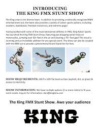 freestyle motocross ramps news king bmx