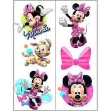disney minnie mouse bow tique temporary tattoo sheets mickey and