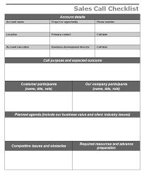 sales call checklist freewordtemplates net