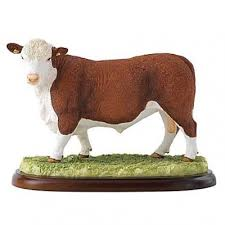 hereford bull figurine bull ornament hereford bull figurines