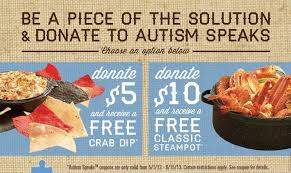 coupons for joe s crab shack pay it forward with joe s crab shack and autism speaks my