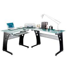 Office Star Computer Desk by L Shaped Computer Desk With Glass Top Smart Furniture