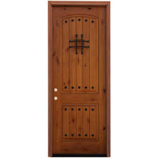 8 Foot Exterior Doors Pacific Entries 36 In X 96 In Rustic 2 Panel Stained Knotty