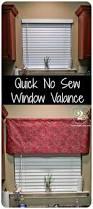 quick no sew window valance