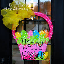 Porch Hangers by Easter Door Hanger Unfinished Wooden Cutout Easter