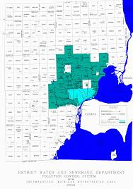 Metro Detroit Map by Detroit Water And Sewerage Department Sewer System Map
