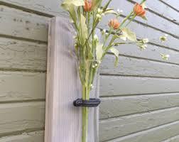 Shabby Chic Wall Sconce by Farmhouse Decor Wood Wall Sconce Wall Art Wall Vase Wood