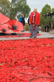 federation square 5000 poppies project ido art karen robinson