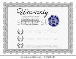 pink vintage warranty certificate template vector stock vector