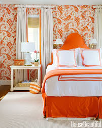 bedroom decor orange interior design
