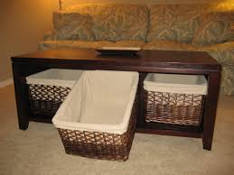 coffee table with baskets under coffee table with baskets underneath voyageofthemeemee
