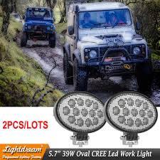 led work lights for trucks oval flood beam led agriculture lights 5 65inch 39w led truck work