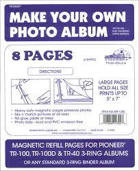 pioneer 3 ring photo albums pioneer refill page magnetic album tr 100 4pc createforless