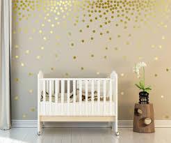 Metallic Gold Wall Decals Polka Dots Wall Decor 1