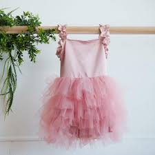 pink ruffle tulle dress toddler dress boutique