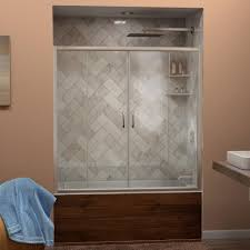 glass bath doors frameless dreamline visions 56 in to 60 in w x 58 in h semi frameless