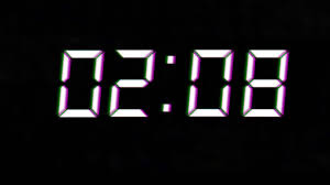 count from 5 minutes digital clock new year
