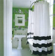 Black And Green Curtains Design Darling Black And White Stripes Kate Spade Shower Curtain