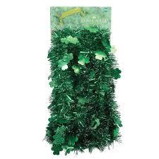 tinsel garland shamrock green tinsel garland 12ft 5 ply st patricks day by