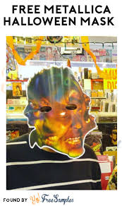 today free metallica halloween mask local record stores