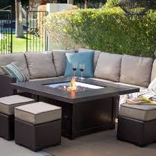 luxury patio set with fire pit table e6gi3 formabuona com