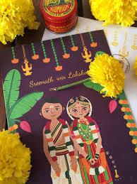 Wedding Card India Meet Radha Ramachandran Illustrator Marigold Tales