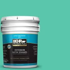 behr premium plus 5 gal p430 4 kauai satin enamel exterior paint