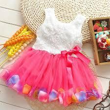 2017 wholesale new girls u0027 pink rose petal hem dress girls floral