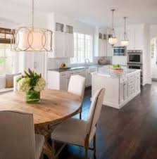 kitchen table or island layout l shaped kitchen with island and eat in table at back