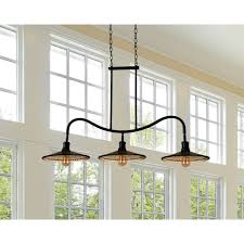 3 Light Kitchen Island Pendant by Wood Classic Cathedral Door Merapi 3 Light Kitchen Island Pendant