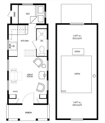 House Plans With Lofts Cool Tiny House Plans On Wheels With Loft Pictures Inspiration