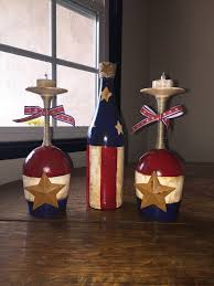patriotic wine glasses candle holders 4th of july wine glasses