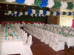 ideas for home made party decorations cassiefairy s blog wedding decor blue and green theme with tissue paper pompoms