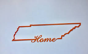 tennessee home state sign custom made metal sign college