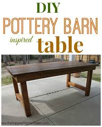 pottery barn farm table diy pottery barn inspired dining table the happier homemaker