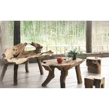 meubles en teck massif table basse teck massif arizona pier import