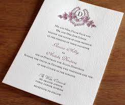monogram wedding invitations custom monogram wedding invitation gallery cathryn invitations