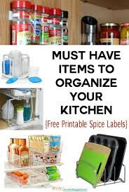 10 Must Haves For A by 10 Must Haves To Organize Your Kitchen
