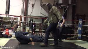 halloween myers background michael myers vs jason voorhees in a wrestling match from