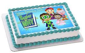 why cake why 3 edible birthday cake or cupcake topper edible