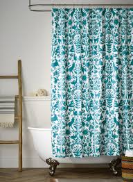 Turquoise Shower Curtains Otomi Turquoise Shower Curtain Hygge West