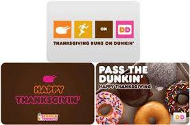 dunkin donuts gift iddeas for thanksgiving dunkin donuts