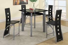 Black Modern Dining Room Sets Amazon Com Poundex F2224 U0026 F1222 Black Painted Glass