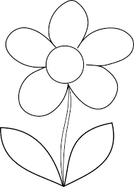coloring pictures of flowers to print flower pot printable template kids coloring flower outline printable