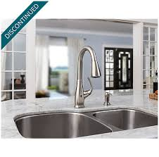 pfister selia kitchen faucet stainless steel selia touch free pull kitchen faucet with