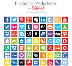 social media icons enfuzed